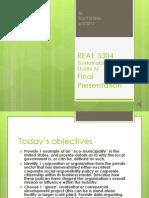 REAE 5304 Final Presentation 1