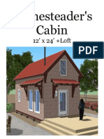 12x24 Homesteaders Cabin v2
