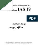 IAS Standardul International de Contabilitate IAS 19