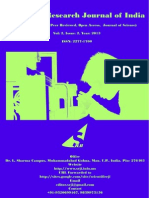 Scientific Research Journal of India (SRJI) Vol-2 Issue-2 Year-2013