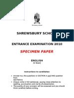 Non CE Specimen English Paper 2010