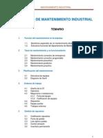 Temario Curso de Mantenimiento Industrial