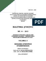 Buletin Stiintific Nr 14-2013 - Vol II - Sesiunea Stiintifica Studenteasca
