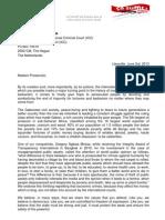 Open Letter to Mrs BENSOUDA Prosecutor ICC Ok