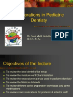 restorations in pediatric dentistry