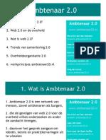 Presentatie Ambtenaar 2.0