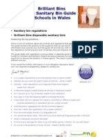 Brilliant Bins - The Sanitary Bin Guide for Schools - Wales