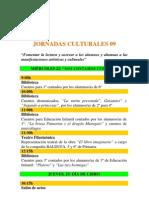 JORNADAS CULTURALES 09