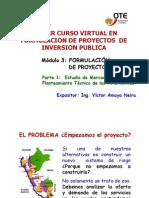 Modulo 3.-Formulacion de Proyectos - Primera Parte