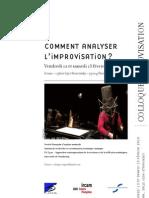 Colloque Improvisation
