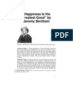 Happiness is the Greatest Good - Jeremy Bentham
