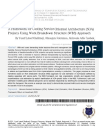 A Framework for Costing Service-Oriented Architecture (SOA) Projects Using Work Breakdown Structure (WBS) Approach