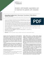 Bevacizumab in Combination With Biweekly Capecitabine And