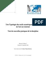 Typologie des outils numériques en histoire de l'art - Simon Bachelier