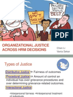 Organizational Justice Across Hrm Decisions