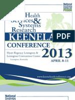 2013 PHSSR Keeneland Conference Full Program
