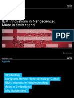 IBM Innovations in Nanoscience