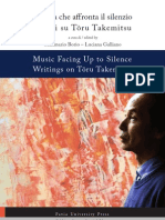 Music facing up to Silence writing on Toru Takemitsu