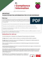 Raspberry Pi Regulatory Compliance & Safety Information