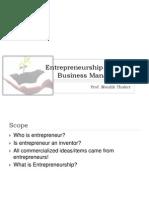 Session 1 to 8 - Entrepreneurship & SBM - Prof Maulik Thaker