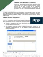 Apéndice de la práctica 01 El programa OpenOffice.org Base (6) Los formularios