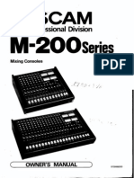 Tascam M-200 Series Owners Manual