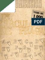 Circulo de Praga - Tesis de 1929
