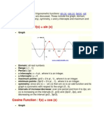 Properties of Six Trigonometric Functions