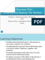 Session 15 to 20 - The Business Plan - Creating and Starting the Venture