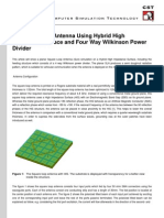 A Square Loop Antenna Using Hybrid High Impedance Surface and Four Way Wilkinson Power Divider