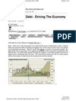 0H - Debt - Driving the Economy Since 1980 23ott12