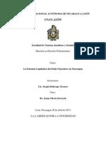 La Función Legislativa en Nicaragua - Tesis Sergio Buitrago (30.05.13)