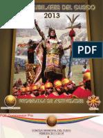 Programa General de Fiestas del Cusco 2013