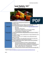 workout1 food safety 101 lesson plan