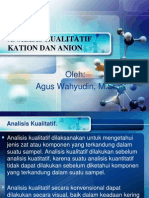 Analisis Kualitatif Kation Dan Anion
