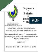IG 10-42 - Correspondência, Publicações e Atos Administrativos