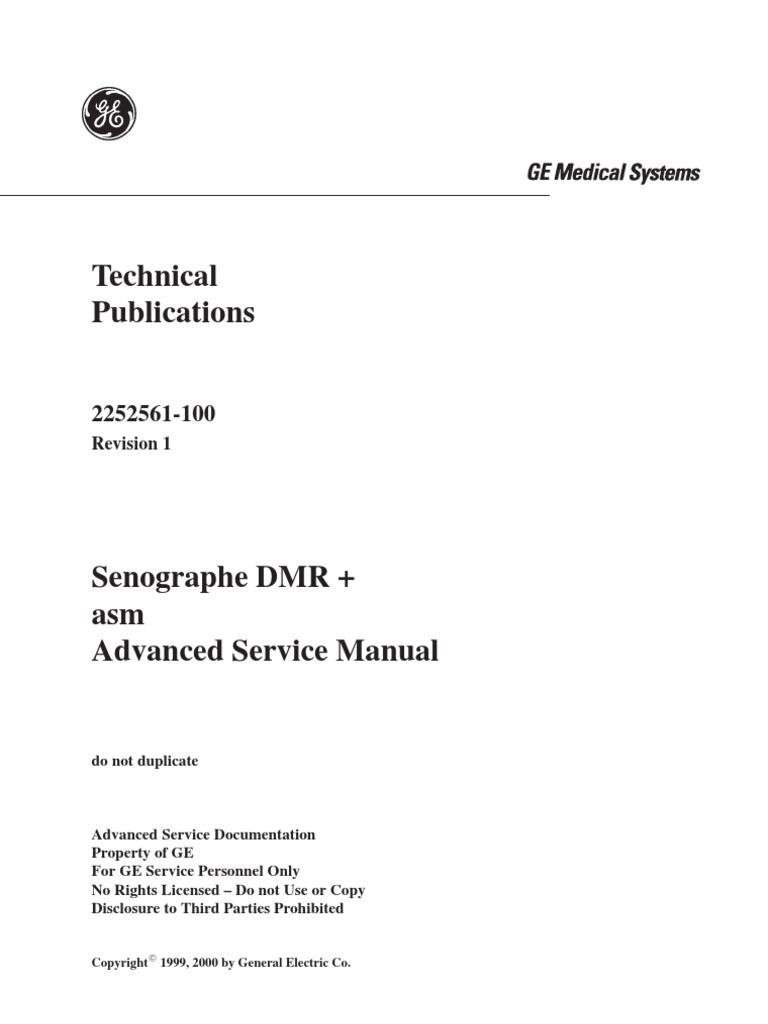 ge senographe dmr service manual