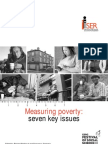 Measuring Poverty - Seven Key Issues