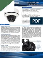 High Definition Vandal-Proof Dome Camera, HD SDI, full 1080p, IR Illumination - Ascendent technology Group - VRD-2810-SDI (IR)