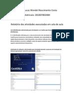 Relatório das atividades executadas em sala de aula - software livre