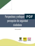 Percepcion de Seguridada Ciudadana Colombia