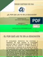 EL POR QUÉ LAS TIC EN LA EDUCACIÓN