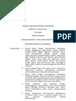 UU No. 43 tahun 2007 tentang Perpustakaan