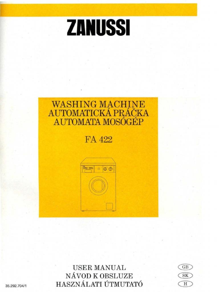 washing machine aquacycle 400 laundry washing machine rh scribd com Instruction Manual Instruction Manual Example
