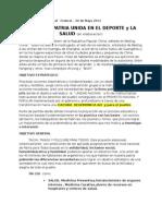 Proyecto Patria Unida en El Deporte y La Salud (en Elaboracion)