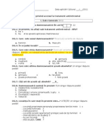 Chestionar Privind Accesul La Tratament ARV-Cu Sugestii Pentru Operatori b.p.