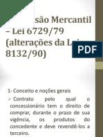 Concess+úo Mercantil ÔÇô Lei 6729-79 - slides