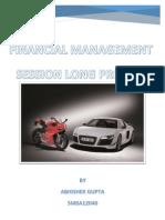 Finance Session Long Project by Abhishek Gupta (SMBA12040)