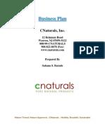CNaturals Dream Business Plan