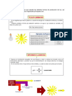 Luminotecnia Calculos